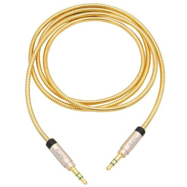 Mobilespec Auxiliary Cable, 3 ft. 3.5 mm. to 3.5 mm. - Gold