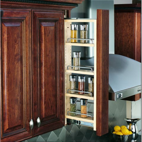 """Rev-A-Shelf 432-WF-3C 432 Series 3"""" Wide Upper Wall Cabinet Pull Out Filler"""