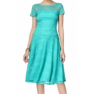 Sangria NEW Light Blue Women's Size 4 Sheath Lace Fit And Flare Dress
