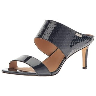 6f581fcb7f1c Calvin Klein Womens Cecily Leather Open Toe Casual Slide Sandals · Quick  View