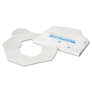 Health Gards Toilet Seat Covers, Half-Fold, White,