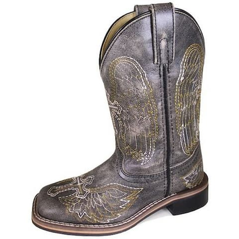 Smoky Mountain Western Boots Boys Guardian Leather Black