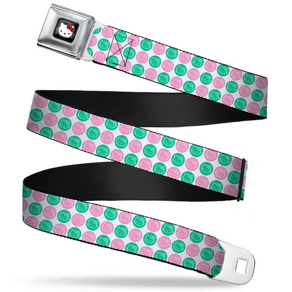 Hello Kitty W Red Bow Full Color Black Hello Kitty Bubbles White Pink Green Seatbelt Belt