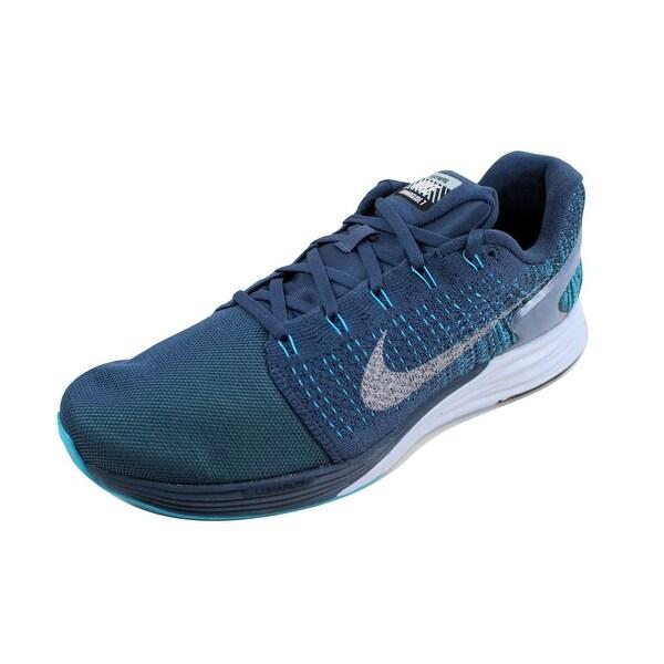 78683cfa1dee Shop Nike Men s Lunarglide 7 Flash Squadron Blue Reflect Silver-Blue ...