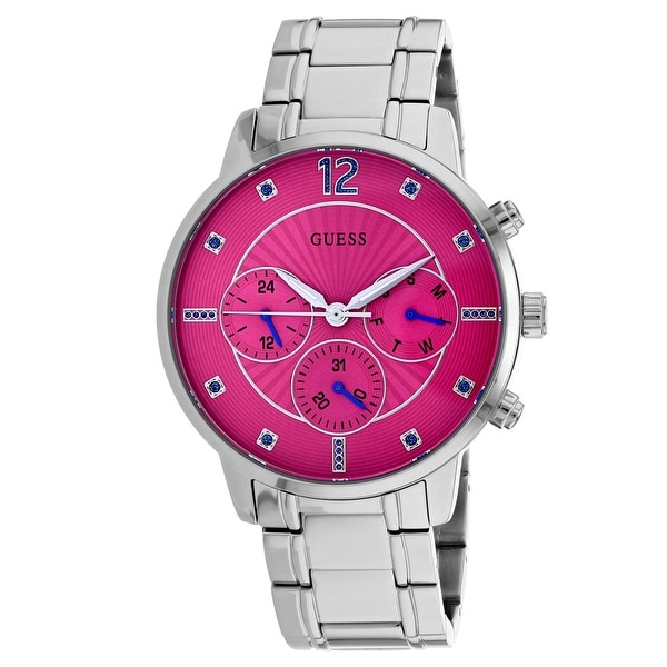 4bdcbc91db22 Shop Guess Women s Sunset W0941L3 Pink Dial watch - Free Shipping Today -  Overstock - 24225474