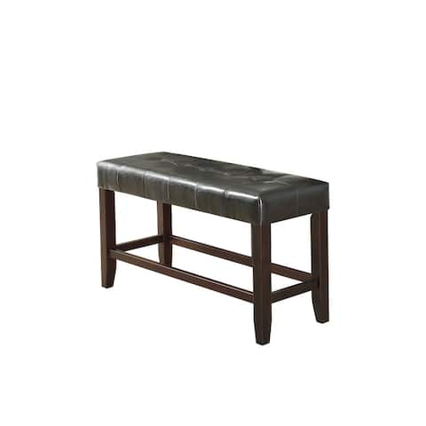 Faux Leather Wood High Bench