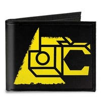 Voltron Lion Symbol + Logo Stripe Black Yellow Multi Color Canvas Bi Fold Canvas Bi-Fold Wallet One Size - One Size Fits most