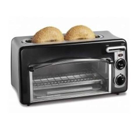 Hamilton Beach 22708H Toastation Toaster & Oven, 2 Slice, Black