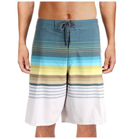 O'Neil Mens Cruzer Knee-Length Striped Board Shorts