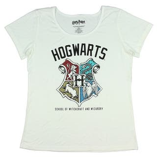 Harry Potter Juniors Hogwarts School Of Witchcraft And Wizardry T-Shirt|https://ak1.ostkcdn.com/images/products/is/images/direct/a35e37729f2d786165c5a1095efa98ca6d7d5651/Harry-Potter-Juniors-Hogwarts-School-Of-Witchcraft-And-Wizardry-T-Shirt.jpg?impolicy=medium