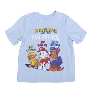 Paw Patrol Toddler Short Sleeve T-Shirt, Sky Blue