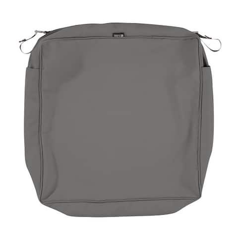 "Montlake FadeSafe Square Patio Lounge Seat Cushion Slip Cover - 5"" Thick - Heavy Duty Outdoor Patio Cushio"
