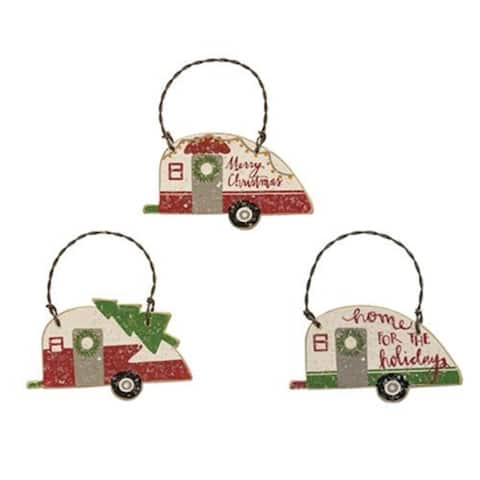 3/Set Camper Ornaments