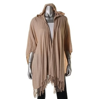 Moon & Meadow Womens Fringe Hooded Cardigan Sweater - o/s