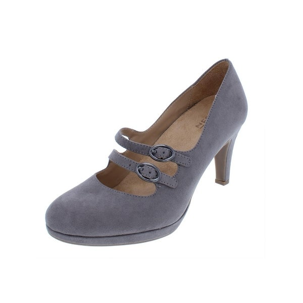 7497cb2490c Shop Naturalizer Womens Prudence Mary Jane Heels Faux Suede Almond ...