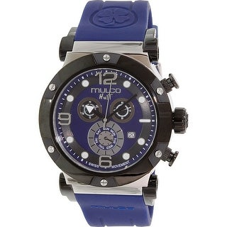Mulco Men's Nuit MW5-1623-045 Blue Rubber Swiss Chronograph Dress Watch