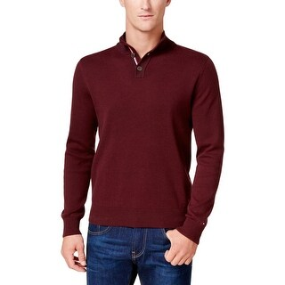 Tommy Hilfiger Mens Polo Sweater Knit Textured