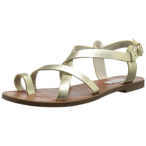 854bb177a100 Steve Madden Womens Agathist Leather Split Toe Casual Strappy Sandals