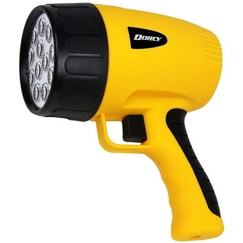 Dorcy 411050 12 LED Rechargeable Handheld Spotlight, Yellow