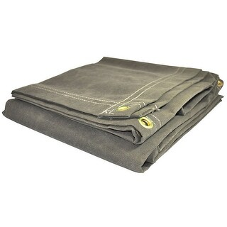Foremost 60810 Dry Top olilve Drab Canvas Tarp, 8' x 10'