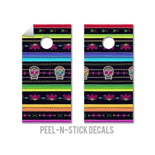 Mexican Blanket Cornhole Board Decals