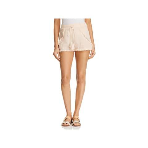 Three Dots Womens Casual Shorts Tassel Frayed Hem - XS