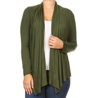 Women Plus Size Long Sleeve Sweater Casual Cover Up Olive