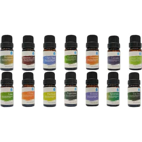 Pursonic 100% Pure Essential Aromatherapy Oils 14-piece Gift Set
