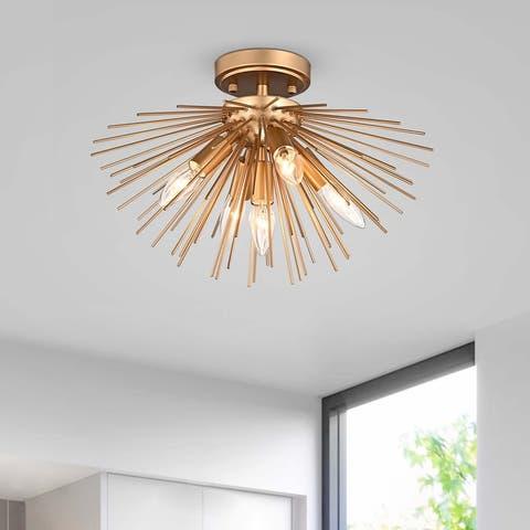 Lorena Sputnik Metal Flush Mount with 5 Lights
