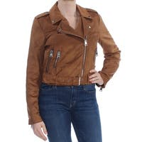 LEVI'S Womens Brown Faux Suede Motorcycle Jacket  Size: M