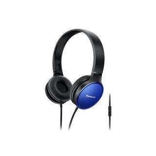 Panasonic On-Ear Stereo Headphones w/Mic & Controller (Blue)