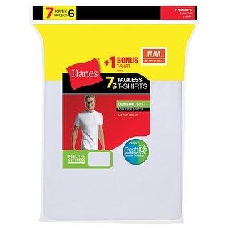 Hanes Men's TAGLESS® Crewneck Undershirt 7-Pack (Includes 1 Free Bonus Crewneck) - Size - L - Color - White