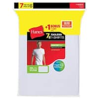 Hanes Men's TAGLESS® Crewneck Undershirt 7-Pack (Includes 1 Free Bonus Crewneck) - Size - L - Color - White