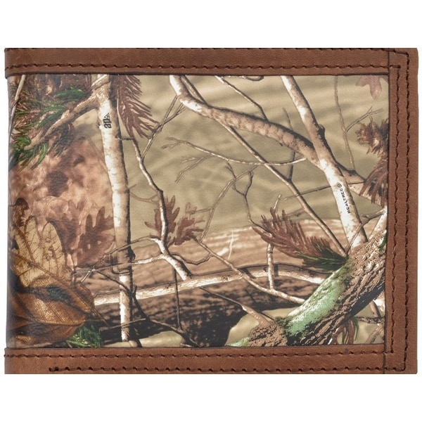 Badger Western Wallet Mens Leather Bifold Realtree Camo - One size