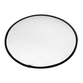 Unique Bargains 80cm Dia Gold Silver Photo Studio Handheld Collapsible Light Reflector