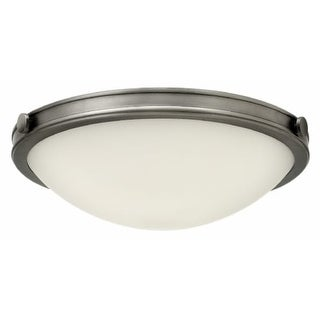 "Hinkley Lighting 3783AN-LED Maxwell Single Light 19"" Wide Integrated LED Flush Mount Bowl Ceiling Fixture with Etched Opal Glass"