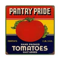 Past Time Signs RPC093 Pantry Tomatoes Food And Drink Metal Sign