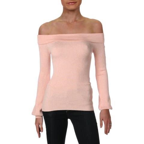 Guess Womens Pullover Sweater Off-The-Shoulder Long Sleeves - XS