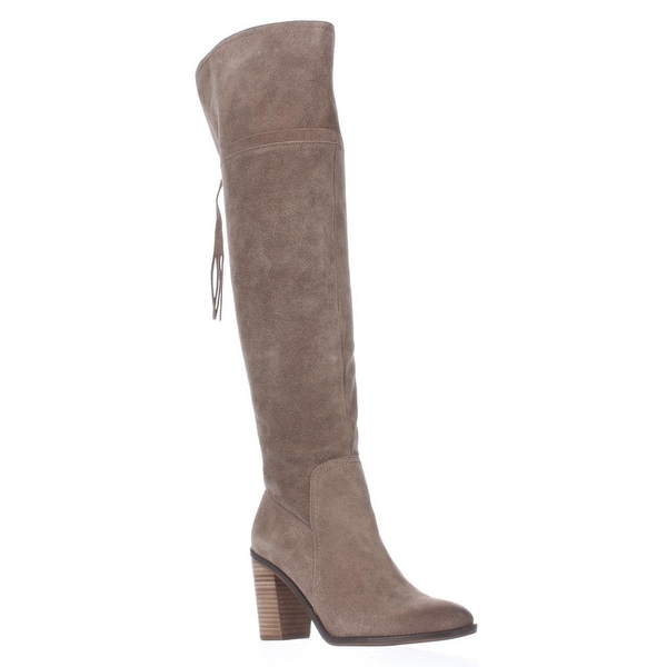 Latest Franco Sarto Eckhart Tassel Back Over The Knee Boots - Taupe Brown For Women Online Sale