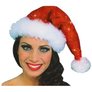 Sparkle Santa Hat Adult Costume Accessory