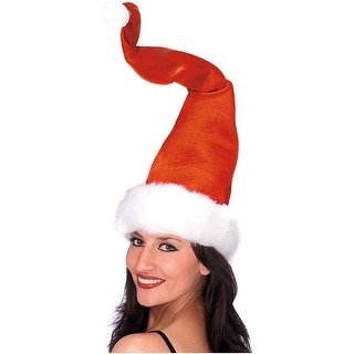 Bendable Santa Claus Hat with Wire Adult Costume Accessory