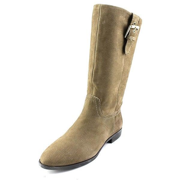 Aldo Aloise Round Toe Leather Mid Calf Boot
