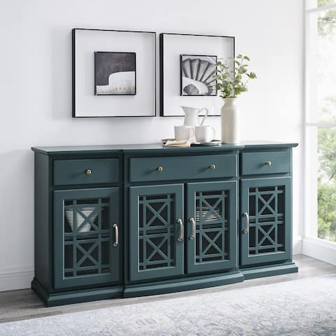 Copper Grove Loches Breakfront Fretwork Sideboard