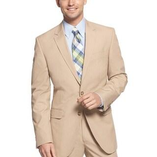 Tommy Hilfiger Polk Trim Fit Khaki Two Button Sportcoat Blazer 36 Short 36S