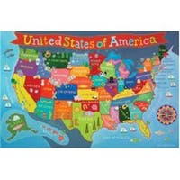 Round World Products RWPKM02 24 x 36 in. United States Map for Kids