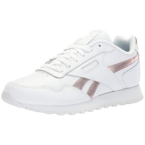 Reebok Womens Classic Harman Run Sneaker, Adult, White/Rose Gold