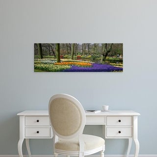 Easy Art Prints Panoramic Images's 'Keukenhof Garden Lisse The Netherlands' Premium Canvas Art