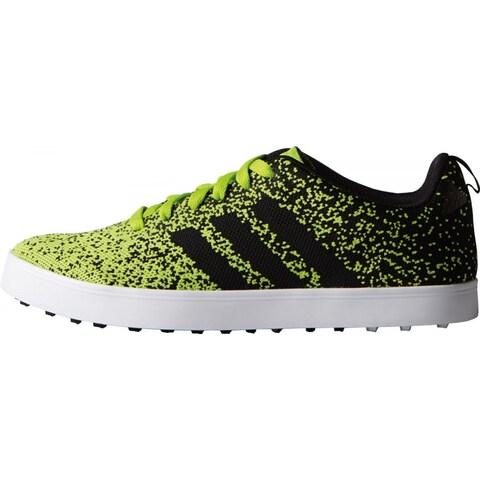 Adidas Men's Adicross Primeknit Solar Slime/Black/White Golf Shoes F33352