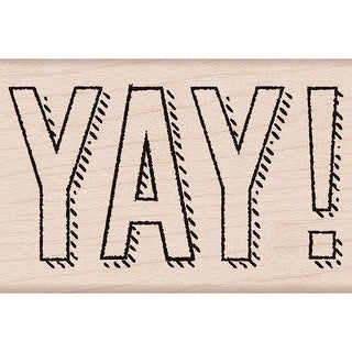 "Hero Arts Mounted Rubber Stamp 2""x3""-YAY!"