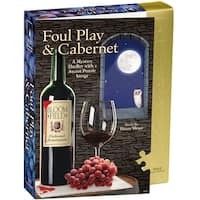 """Jigsaw Shaped Puzzle 1000 Pieces 23""""X29""""-Foul Play & Cabernet"""